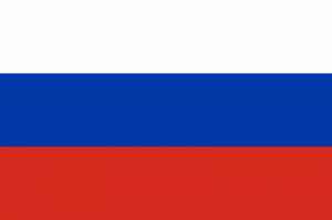 The national flag of Russia.