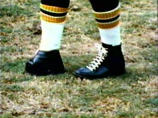"Tom Dempsey's famous ""square"" kicking shoe."