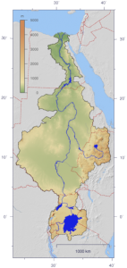 A map of the Nile River.
