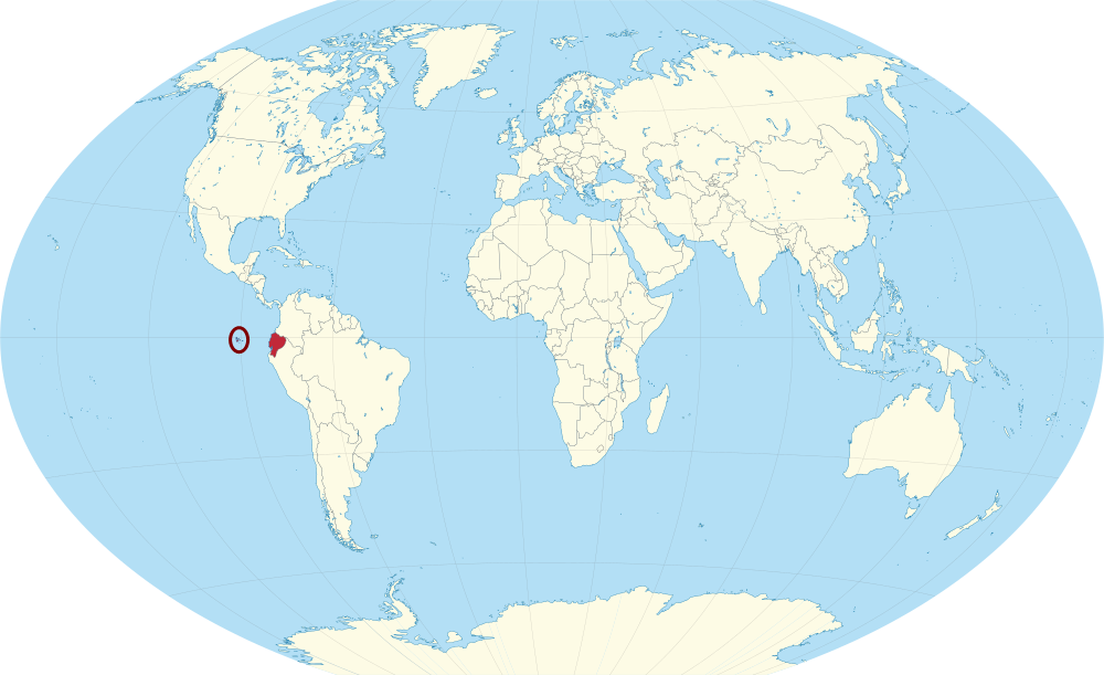 Galapagos On World Map