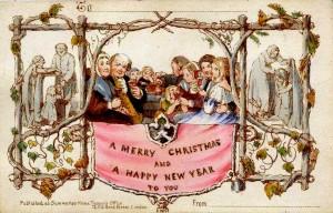 The first Christmas Card as designed by John Callcott Horsley.
