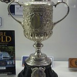 A replica of the second FA Cup Trophy won by the Wanderers Football Club.