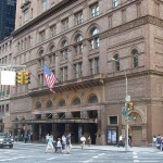 An image showing the entrance to Carnegie Hall