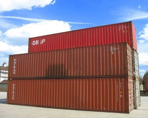 A group of shipping containers stacked on top of each other.
