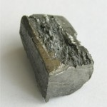 A small sample of pure terbium metal.