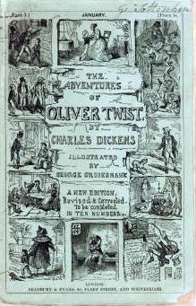 The original Oliver Twist serial cover.