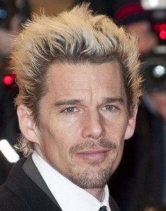 Ethan Hawke at a movie premiere.