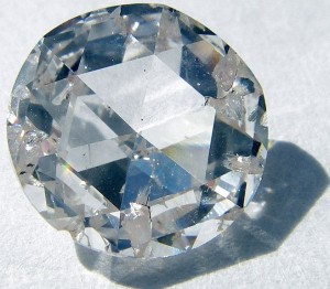 A synthetic diamond