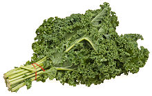 A bundle of green kale.