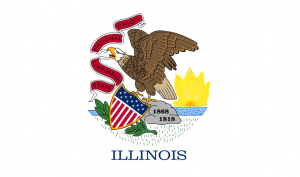 The state flag of Illinois