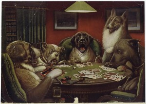 Dogs Playing Poker (Waterloo) by C. M. Coolidge