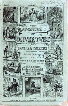 The original Oliver Twist serial cover.
