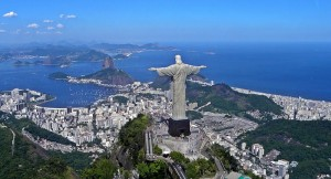 Christ the Redeemer statue with Rio de Janeiro in the background.