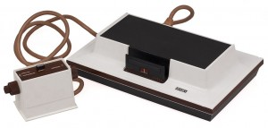 The original Magnavox Odyssey video game console.