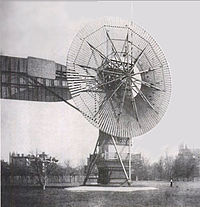 The wind turbine invented by Charles Brush