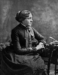 Portrait of American author Louisa May Alcott