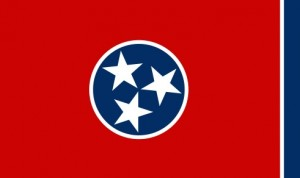 The state flag of Tennessee
