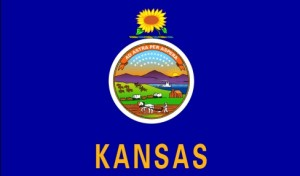 The state flag of Kansas